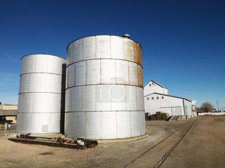Two silos.
