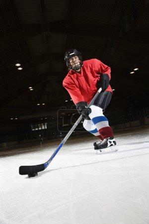 Woman hockey player.