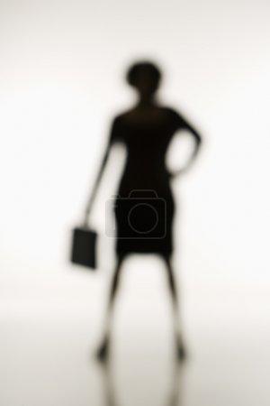 Soft focus businesswoman.