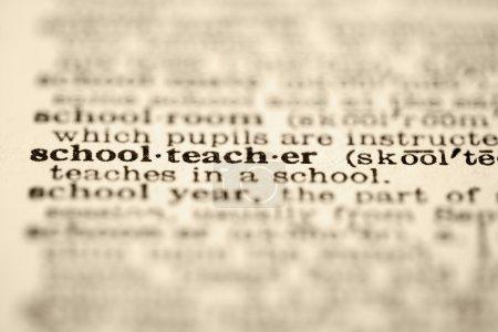 School teacher definition.