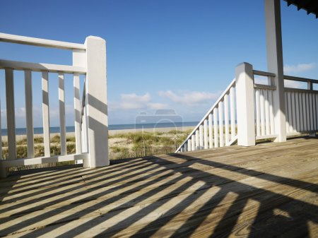 Porch at coast.