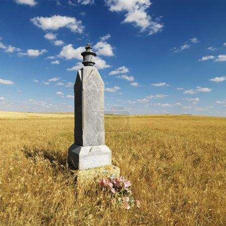 Rural grave marker.