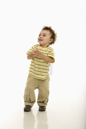 Happy toddler boy.