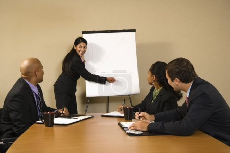 Businesswoman doing presentation.