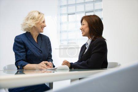 Smiling businesswomen