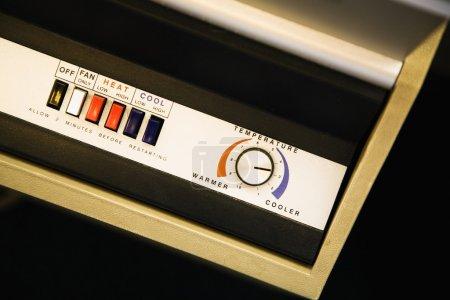 Air conditioner control panel.