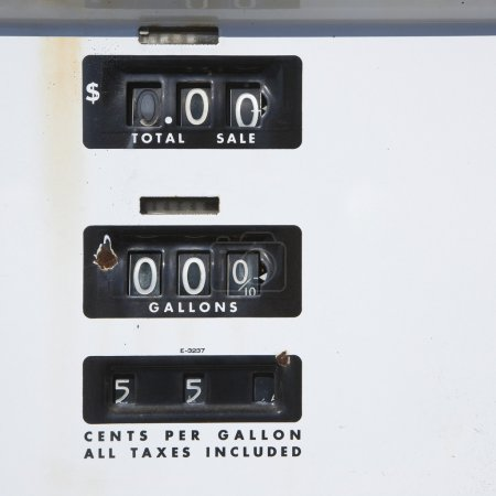 Old gas gauge.