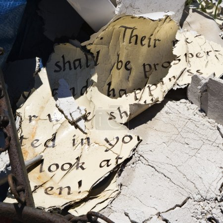 Old weathered Bible pages.