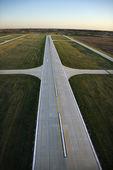 Airplane runway.