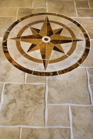 Floor design inlay.
