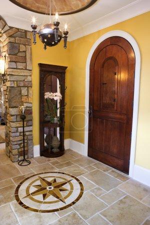 Front Door and Foyer of Luxury Home