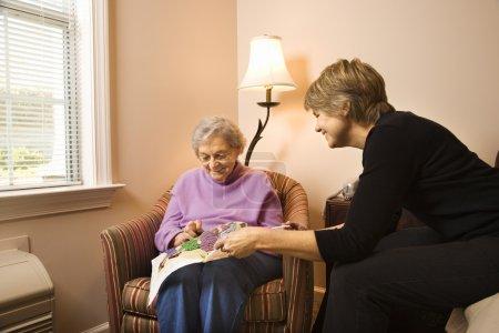 Woman Visiting Older Woman