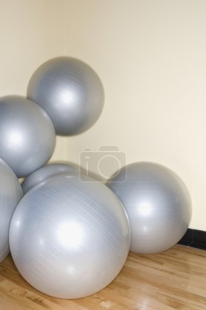 Balance balls in gym.