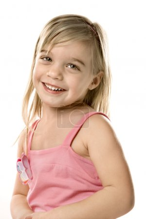 Cute smiling girl child.