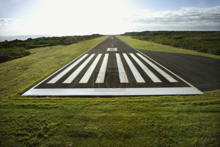 Photo for Aerial view of airplane landing field on Maui, Hawaii. - Royalty Free Image