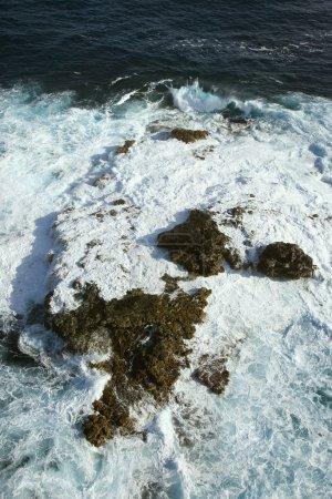 Rocks in ocean.