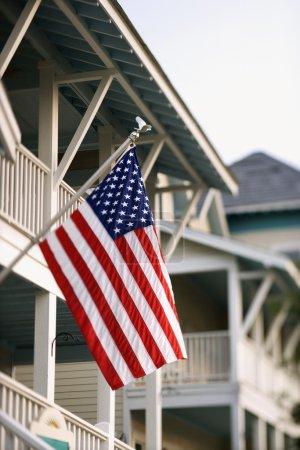 American Flag on Home