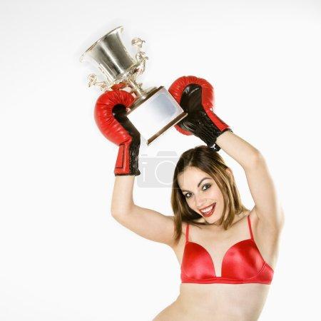 Female boxing champion.