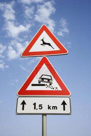 Rural Road Signs in Europe