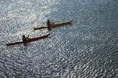 Boys sea kayaking.