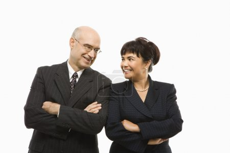 Businessman and woman.