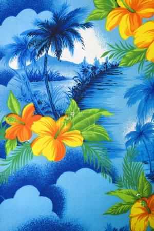 Tropical fabric detail.