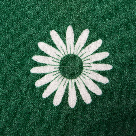 Flower fabric detail.