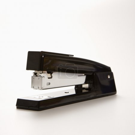Photo for Black stapler on white background. - Royalty Free Image