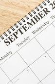 September on calendar.