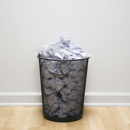Full trash can.