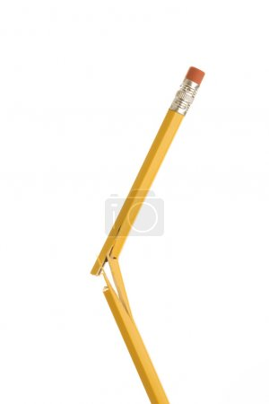 Photo for Pencil broken in half. - Royalty Free Image