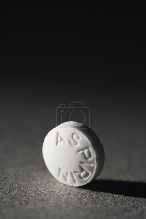 White Aspirin Pill