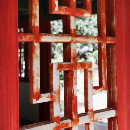 Asian wooden window
