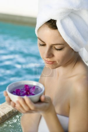 Woman at spa.