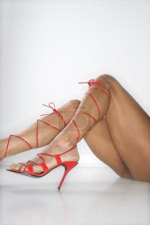 Woman in high heels.