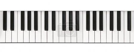 Photo pour Piano clavier close-up arrière-plan - image libre de droit