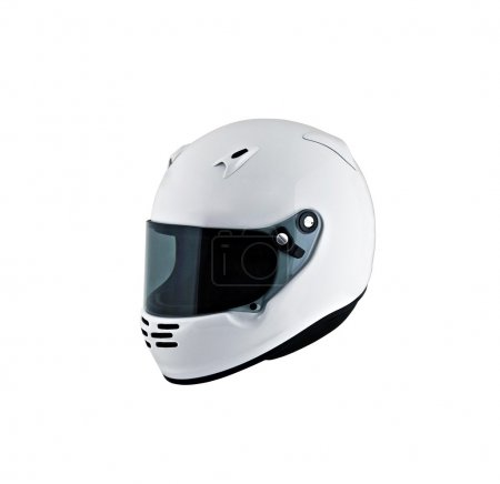 Photo for Motorcycle helmet over white background, studio isolated. - Royalty Free Image