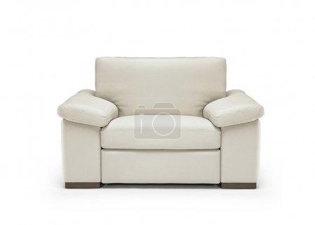 Photo pour Image d'un fauteuil en cuir moderne isolé - image libre de droit