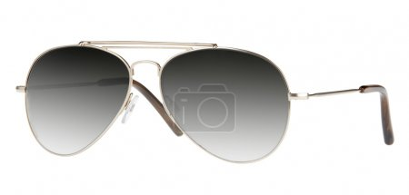 Mirrored aviator sunglasses isolated on white