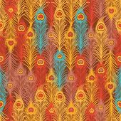 Seamless pattern with vintage feather