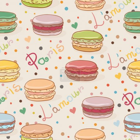 Seamless macaron pattern