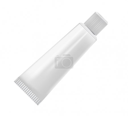 Cream tube isolated on white background