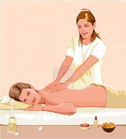 Illustration for Massage - Royalty Free Image