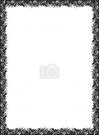 Photo pour Illustration art du cadre floral abstrait - image libre de droit