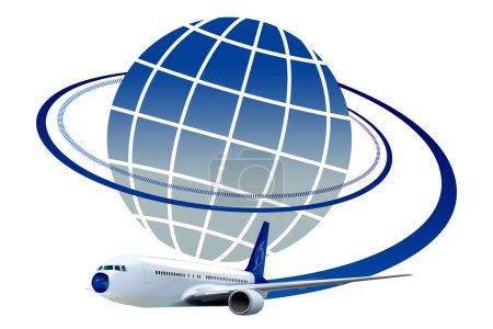 Foto de Ilustración de dibujo de logotipo de viaje aéreo - Imagen libre de derechos