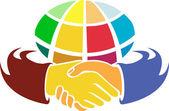 Globe hand logo