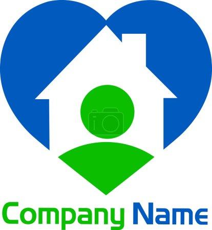 Heart home logo