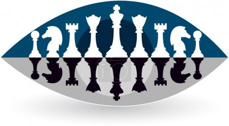 Eye view chess logo