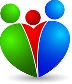 Family heart logo