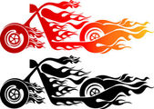 Illustration art of a speed bike with isolated background